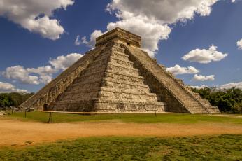 обоя города, - исторические,  архитектурные памятники, мексика, Чичен-ица, майя, пирамида, chichen, itza