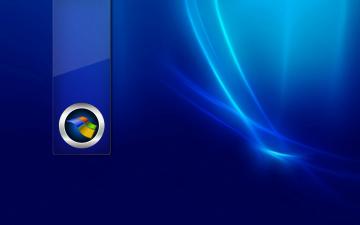 обоя компьютеры, windows 7 , vienna, логотип, фон, синий