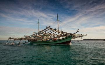 Картинка indonesia корабли другое индонезия море рыболовное судно