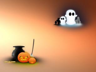 Картинка праздничные хэллоуин тыквы призраки