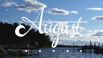 обоя календари, природа, август