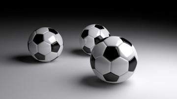 обоя спорт, 3d, рисованные, мячи