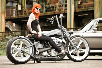 обоя мотоциклы, мото с девушкой, motorcycle
