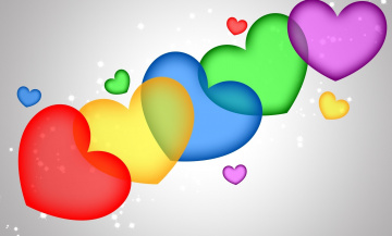 Картинка векторная+графика сердечки
