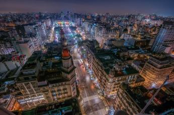 обоя города, - огни ночного города, огни, ночь