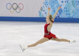 обоя спорт, фигурное катание, девушка, прыжок