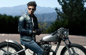 обоя мужчины, - unsort, мотоцикл, перчатки, очки