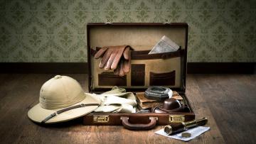 обоя разное, одежда,  обувь,  текстиль,  экипировка, фотоаппарат, рубашка, чемодан, шлем, перчатки