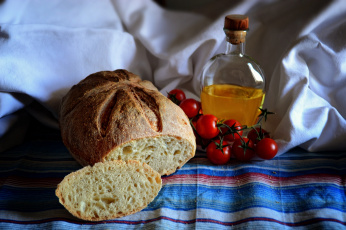 Картинка еда хлеб +выпечка масло томаты