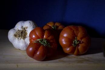 Картинка еда овощи помидоры чеснок
