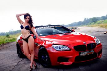 обоя автомобили, -авто с девушками, bmw