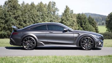 обоя mansory mercedes-benz s63 amg coupe black edition 2015, автомобили, mercedes-benz, mansory, s63, amg, coupe, black, edition, 2015