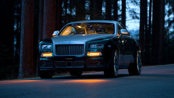 обоя mansory rolls-royce wraith with fog lights 2014, автомобили, rolls-royce, mansory, wraith, with, fog, lights, 2014