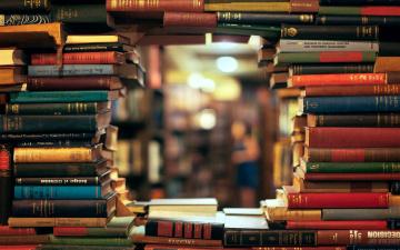 обоя разное, канцелярия,  книги, много, библиотека, книги