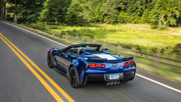обоя chevrolet corvette convertible grand sport 2017, автомобили, corvette, chevrolet, 2017, sport, grand, convertible