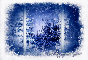 Картинка happy new year праздничные новогодние пейзажи