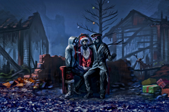 Картинка фэнтези романтика+апокалипсиса рождество санта клаус christmas apocalypse xmas zee captain alexiuss