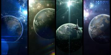 Картинка видео+игры mass+effect звезды галактика планеты вселенная