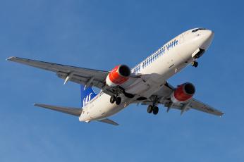 обоя boeing 737-883, авиация, пассажирские самолёты, авиалайнер