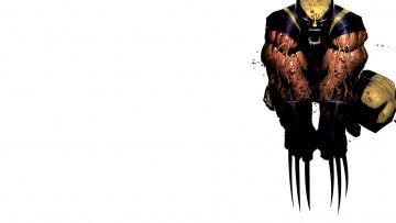 Картинка рисованное комиксы росомаха когти мышцы клыки