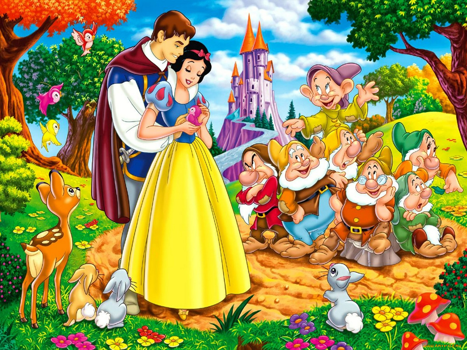 snow white and the seven dwarfs - HD1600×1200