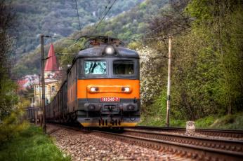 Картинка техника электрички железная дорога локомотив состав