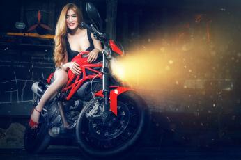 Картинка мотоциклы мото+с+девушкой байк девица