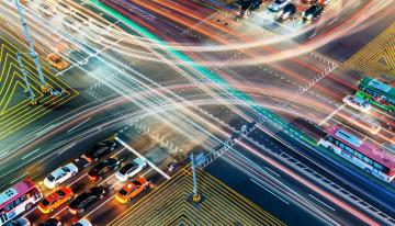 обоя города, - огни ночного города, шоссе, дороги, огни, трафик, транспорт, машины, перекресток