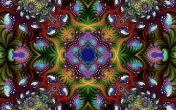 обоя colorful, 3д графика, фракталы , fractal, 3д, графика, текстура