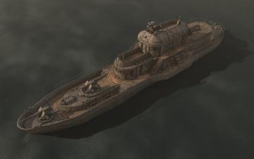 обоя корабли, 3d, корабль