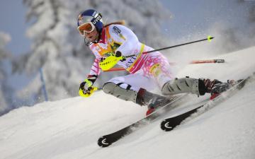 Картинка спорт лыжный lindsey vonn горные лыжи