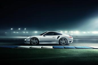 Картинка 2014+porsche+911+turbo+ techart автомобили porsche ночь тюнинг белый огни