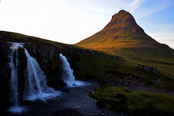 Картинка природа водопады водопад горы