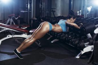 обоя спорт, - другое, взгляд, фон, фитнес, девушка