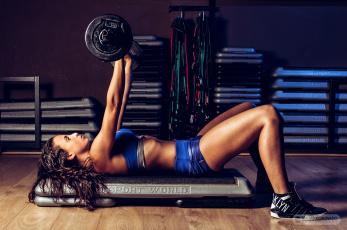 обоя спорт, - другое, взгляд, фитнес, девушка, фон