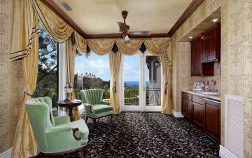 Картинка интерьер гостиная кресло шторы дизайн фото