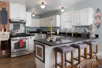 обоя интерьер, кухня, мебель, дизайн, стулья, стиль, плита, декор