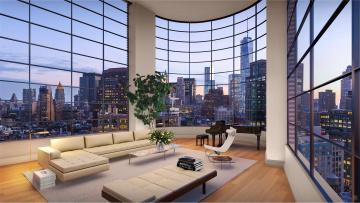 обоя интерьер, гостиная, окно, стол, диваны, дома