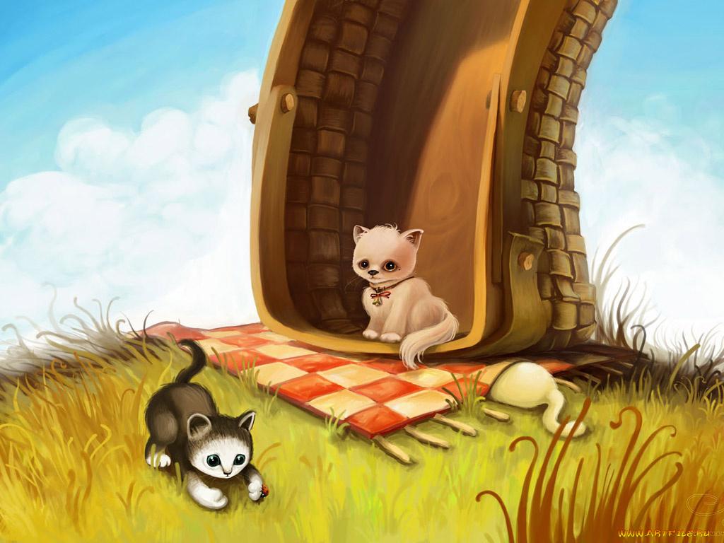 Картинки нарисованные животные прикольные