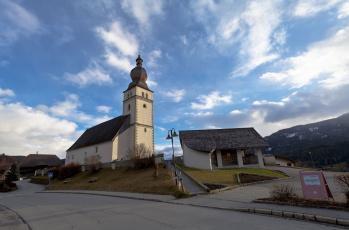 Картинка города католические соборы костелы аббатства krakaudorf