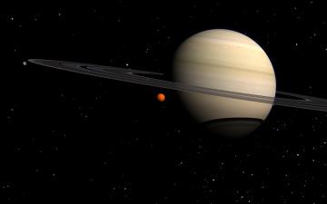 обоя космос, сатурн, галактика, планета, вселенная, звезды