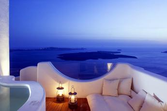 обоя интерьер, веранды,  террасы,  балконы, диван, вечер