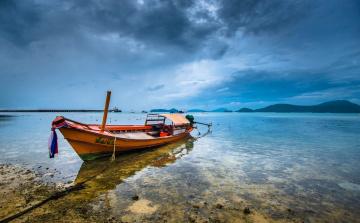Картинка пхукет +таиланд корабли лодки +шлюпки таиланд у берега лодка