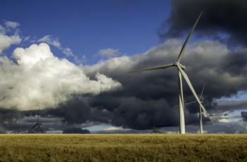 обоя разное, мельницы, ветряки, облака