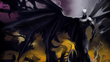 Картинка batman рисованные комиксы бэтмен человек-летучая мышь комикс персонажи