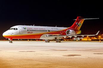 обоя comac arj21-700, авиация, пассажирские самолёты, авиалайнер