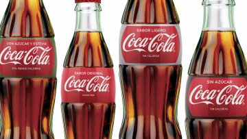обоя бренды, coca-cola, бутылки, напиток