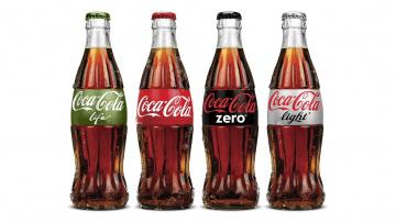 обоя бренды, coca-cola, напиток, бутылки