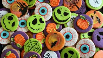 обоя праздничные, хэллоуин, печенье