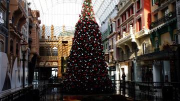 обоя праздничные, Ёлки, елка, шары